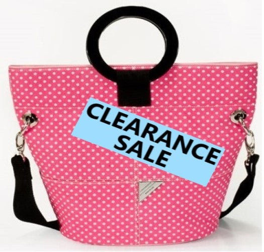 CLEARANCE SALE- Pink and White Dot Bucket Bag