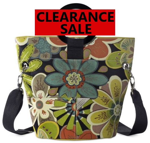 CLEARANCE SALE-Black Forest Print Bucket Bag Pre-Mfr Sample