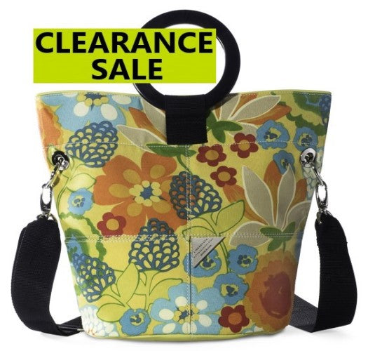 CLEARANCE SALE-Darney Sun Bright Printed Canvas Bucket Bag
