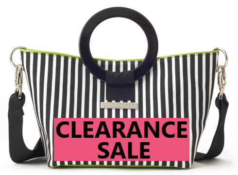CLEARANCE SALE-Carrie Stripe East West Bag
