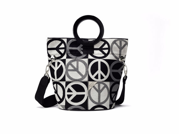 Peace Sign Bucket Bag