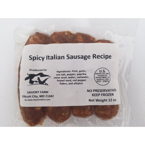 Gourmet Spicy Italian sausage