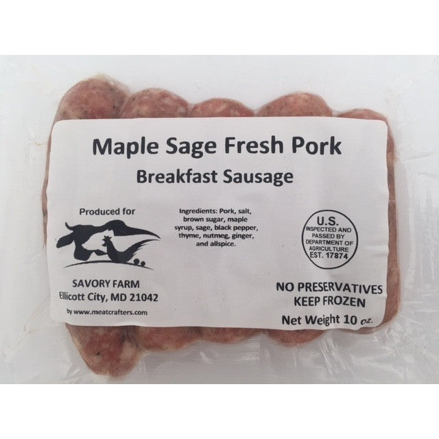 Gourmet Maple Sage Breakfast Sausage/Freezzer 7