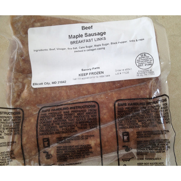 Beef Maple Breakfast Sausage- Links FB1