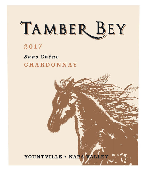 2017 Tamber Bey Vineyards Sans Chene (without oak) Chardonnay Napa Valley Youtville CA
