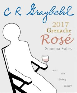 2017 C R Graybehl Wine Company Greanche  Sonoma Valley California