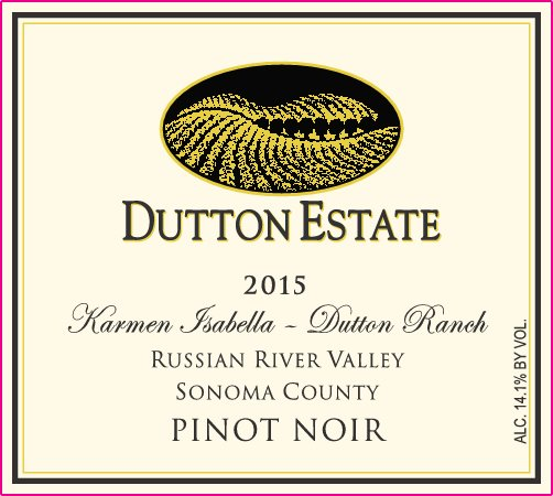 2015 Dutton Estate Winery Pinot Noir Russian River Valley California