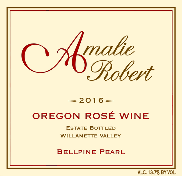 2016 Amalie Robert Estate Bellpine Pearl Rose Willamette Valley OR