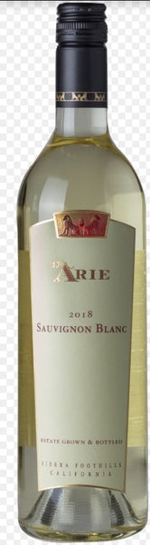 2018 C.G. Di Arie Winery Sauvignon Blanc Sierra Foothills, California Shenandoah Valley CA