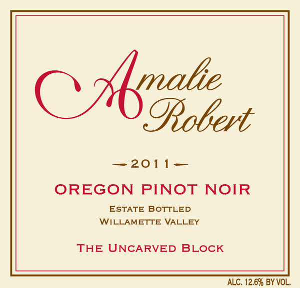 2011 Amalie Robert Estate The Uncarved Block Pinot Noir Willamette Valley OR