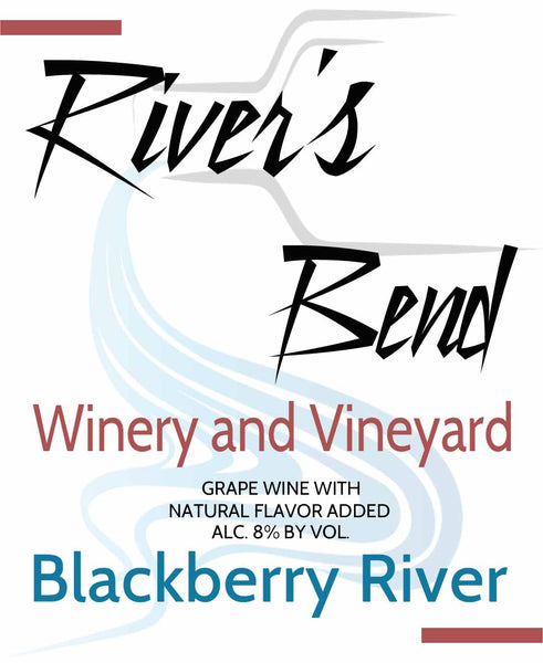 NA River's Bend Winery and Vineyard Blackberry River Fruit Blends Georgia Georgia
