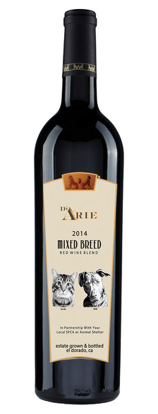 2014 C.G.Di Arie Winery Mixed Breed Red Blend 45% Zinfandel, 31% Syrah,14% Petite Sirah, 10% Cabernet Franc Sierra Foothills, California Shenandoah Valley California