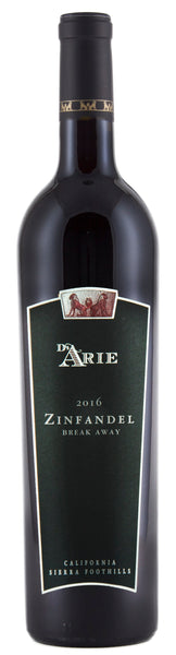 2016 C.G. Di Arie Winery Break Away Zinfandel 85% Zinfandel, 15% Petite Sirah Sierra Foothills, California Shenandoah Valley CA