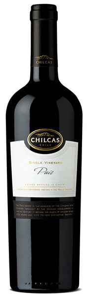 2011 Chilcas Single Vineyard Paîs Maule Valley Chile (Case of 6)