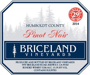 2014 Briceland Wines North Coast Pinot Noir Humboldt County