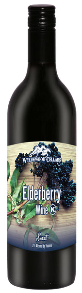 Non-Vintage Wyldewood Cellars Winery Elderberry Sweet Elderberry Kansas Kansas