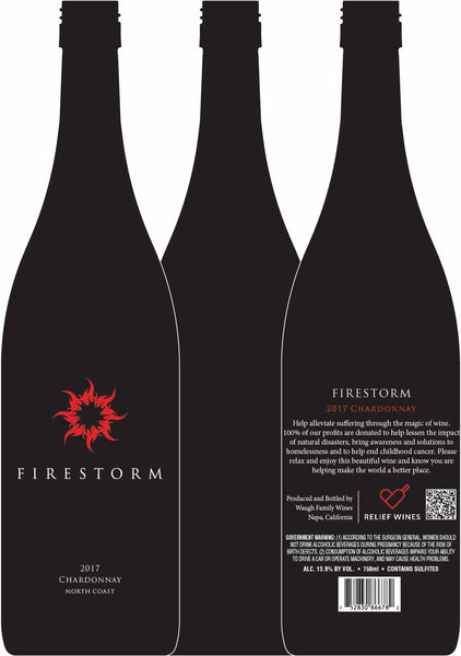 2017 Waugh Family Wines Firestorm Chardonnay North Coast