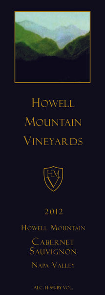 2012 Howell Mountain Vineyards Cabernet Sauvignon Howell Mountain, Napa Valley CA