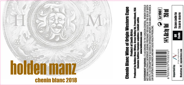 2018 Holden Manz Chenin Blanc The Western Cape