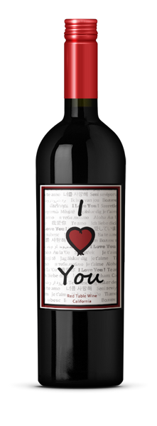 NV Golden Glass Wine I LOVE YOU Red Blend California California