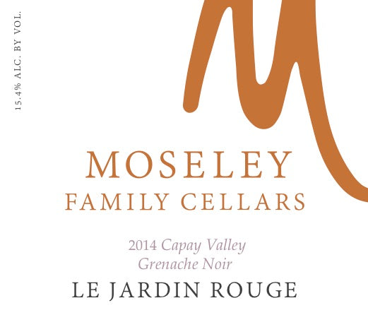 2015 Moseley Family Cellars Le Jardin Rouge Grenache, Syrah, Mourvedre, Viognier Capay Valley California