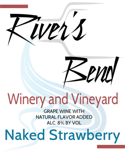 NA River's Bend Winery and Vineyard Naked Strawberry Fruit Blend Georgia Georgia