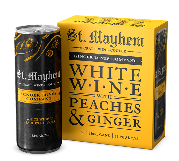 2017 St. Mayhem Ginger Loves Company 2-Pack White wine with peaches and ginger California California