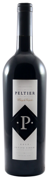 2015 Peltier Winery Black Diamond Petite Sirah Lodi California