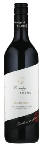 "2010 Formby & Adams ""Leading Horse"" Cabernet Sauvignon Metala Vineyards Langhorne Creek South Australia"