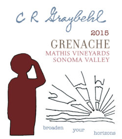 2015 C R Graybehl Wine Company Grenache Sonoma Valley California