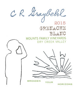 2015 C R Graybehl Wine Company Greanche Blanc Dry Creek Valley California