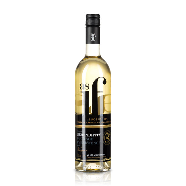 "2014 Chronicle Wines As If Wines ""Serendipity"" White Wine Blend Chardonnay, Sauvignon Blanc, Viognier North Fork of Long Island New York"