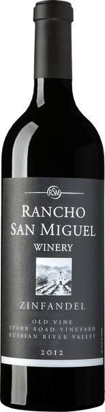 2012 Rancho San Miguel Star Road Vineyard Zinfandel Russian River Valley California