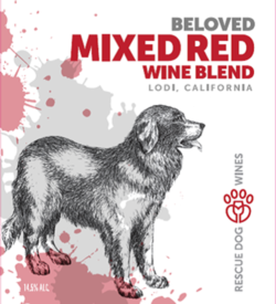 NV Rescue Dog Wines  Beloved Mixed Red Wine Blend Red Blend Lodi CA