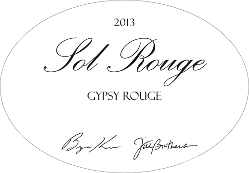 2013 Sol Rouge Gypsy Rouge Châteauneuf-du-Pape Blend Red Hills, Lake County CA