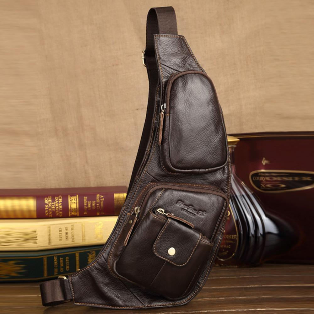 Crossbody Bags - Vintage Genuine Leather High Quality Shoulder Bag