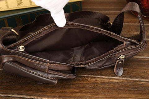 Image of Crossbody Bags - Vintage Genuine Leather High Quality Shoulder Bag