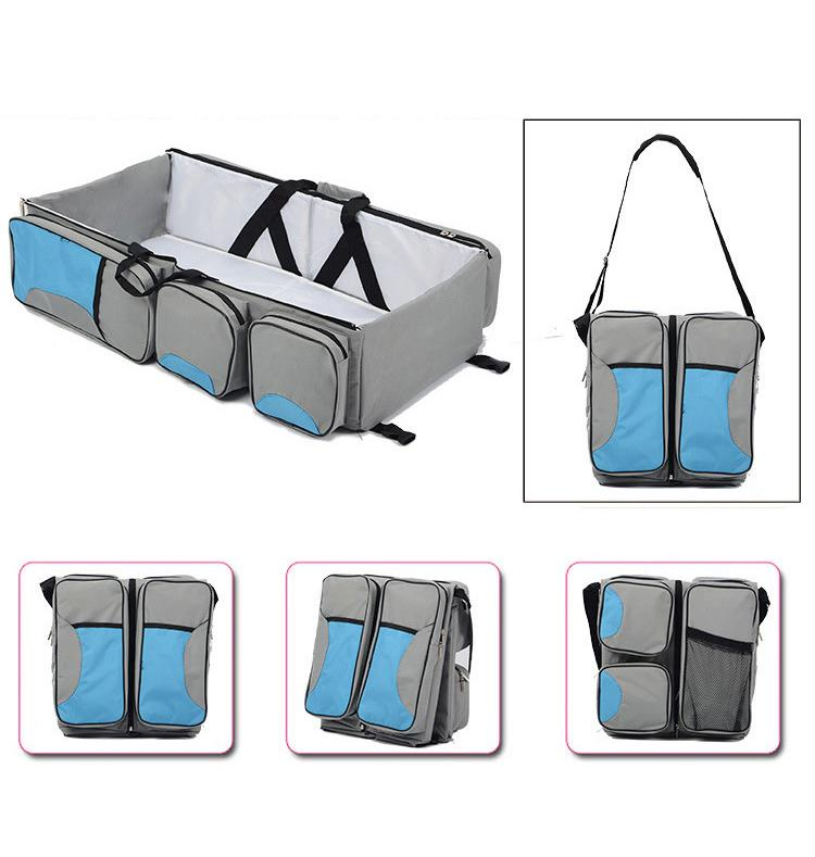 Diaper Bags - 3 In 1 Multi Purpose Diaper Bag Baby Bassinet