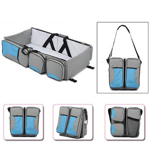 3 in 1 Multi Purpose Diaper Bag Baby Bassinet