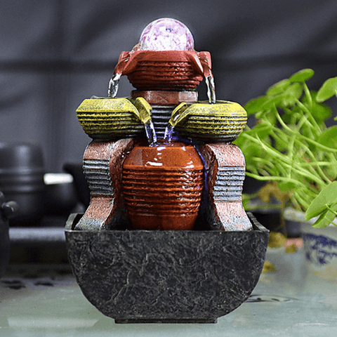 Image of Figurines & Miniatures - Feng Shui Small  Water Fountain Decoration
