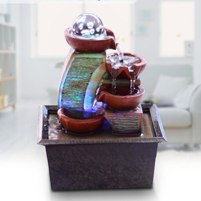 Figurines & Miniatures - Feng Shui Small Waterscape Fountain