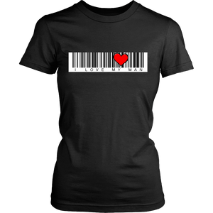 T-shirt - BARCODE I Love My Man