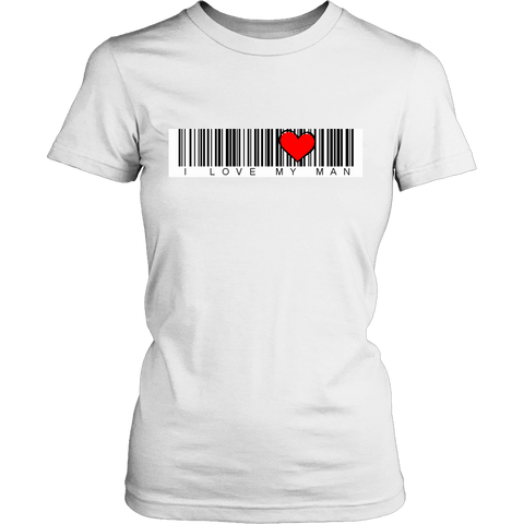 Image of T-shirt - BARCODE I Love My Man