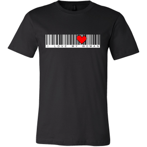 T-shirt - BARCODE I Love My Woman