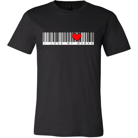 Image of T-shirt - BARCODE I Love My Woman