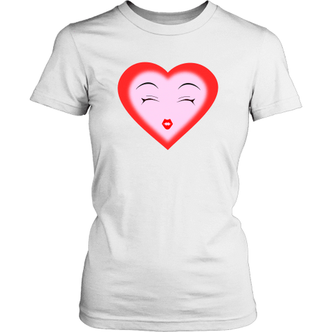 Image of T-shirt - Dreamy Heart (District Made Womens Shirt)