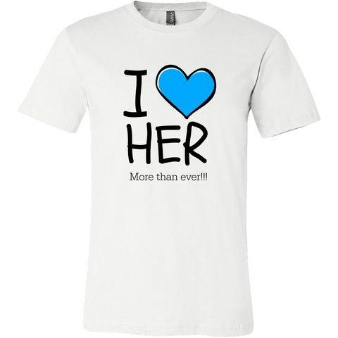 T-shirt - I Heart Her (Men's T-Shirt)