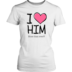 T-shirt - I Heart Him (Women's T-Shirt)