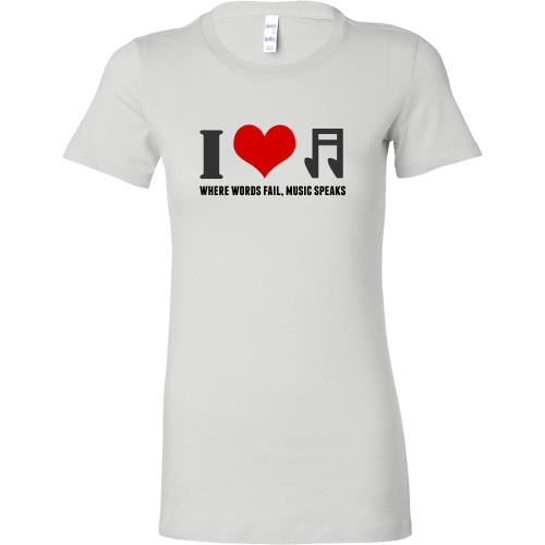 T-shirt - I Heart Music (Bella Womens Shirt)