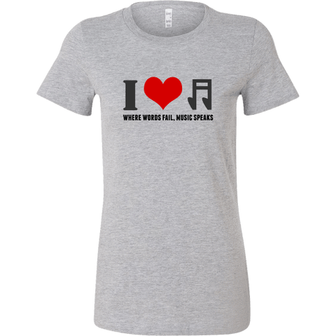Image of T-shirt - I Heart Music (Bella Womens Shirt)